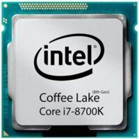 سی پی یو اینتل Core i7 8700-K Coffe Lake TRY upto 4.70 GHz (6 هسته ، 12مگ کش )