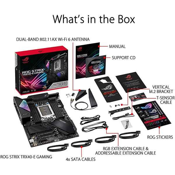 قیمت خرید مادربرد ایسوس مدل ROG Strix TRX40-E Gaming