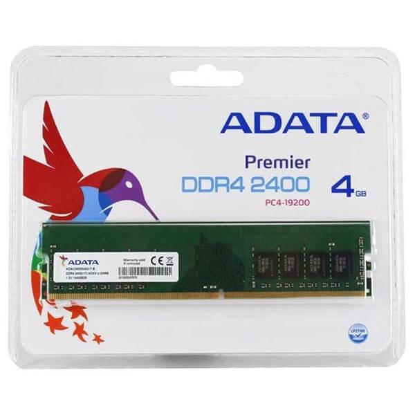 قیمت خرید رم کامپیوتر ای دیتا ۴ گیگابایت ddr4 فرکانس ۲400 مدل Premier