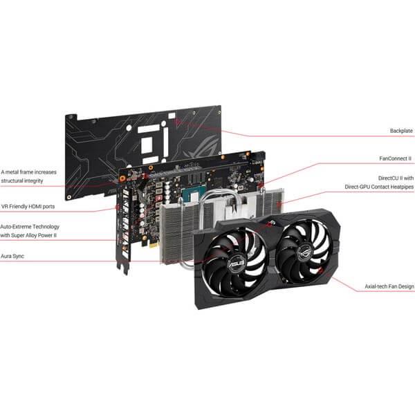 قیمت خرید کارت گرافیک ایسوس مدل Asus ROG Strix RTX 2060 Advanced Gaming