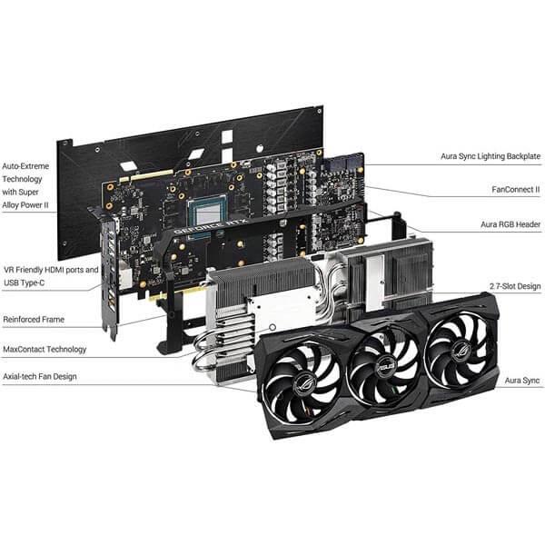 قیمت خرید کارت گرافیک ایسوس مدل Asus ROG Strix RTX 2070 Super OC Gaming