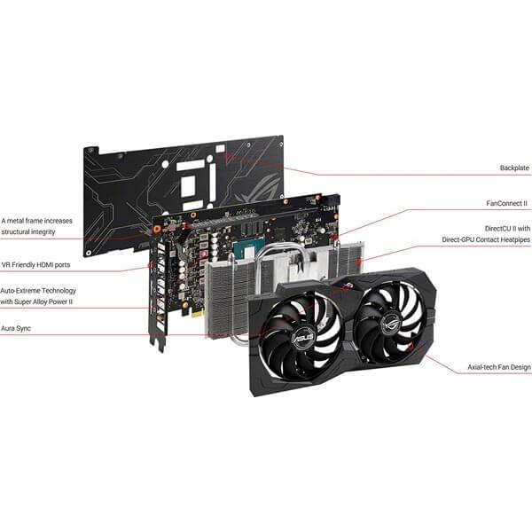 قیمت خرید کارت گرافیک ایسوس مدل Asus ROG Strix GTX 1660 Super OC Gaming