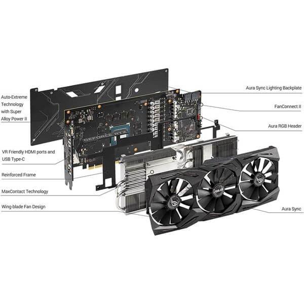 قیمت خرید کارت گرافیک ایسوس مدل Asus ROG Strix RTX 2060 Super Advanced Gaming
