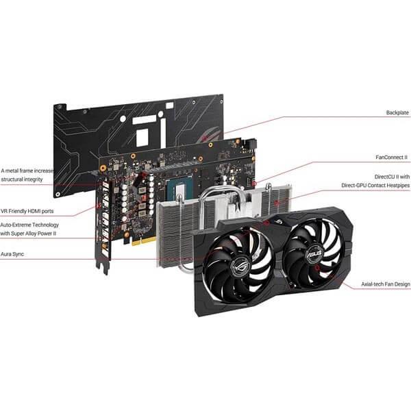قیمت خرید کارت گرافیک ایسوس مدل Asus ROG Strix GTX 1650 GDDR6 Gaming