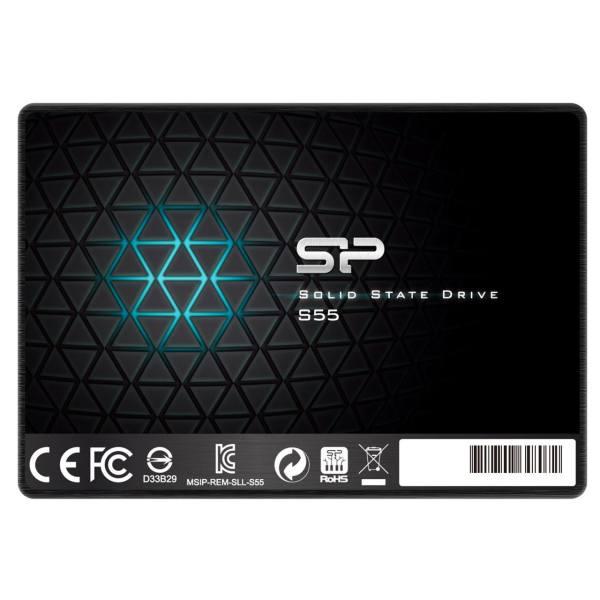 هارد اس اس دی سیلیکون پاور ۲.۵ اینچی مدل Silicon Power Slim S55 ظرفیت ۱۲۰ گیگابایت