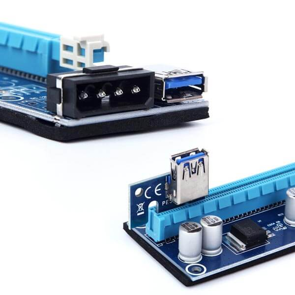 قیمت خرید رایزر کارت گرافیک تبدیل پورت PCI 1X به 16X مدل 007