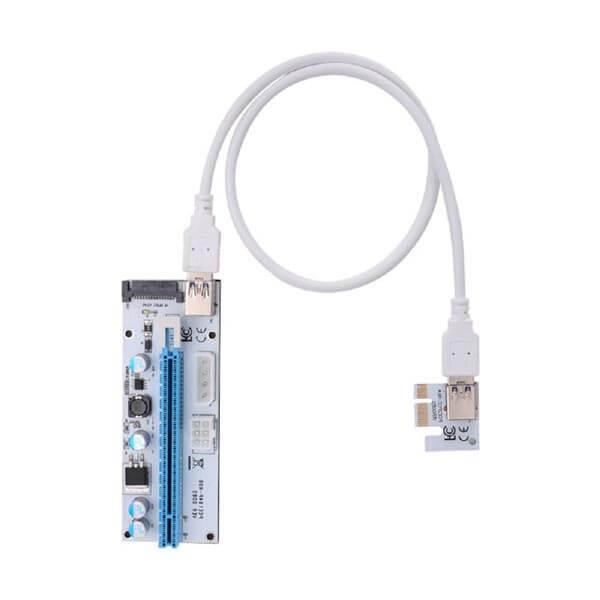 قیمت خرید رایزر کارت گرافیک تبدیل پورت PCI 1X به 16X مدل 008s