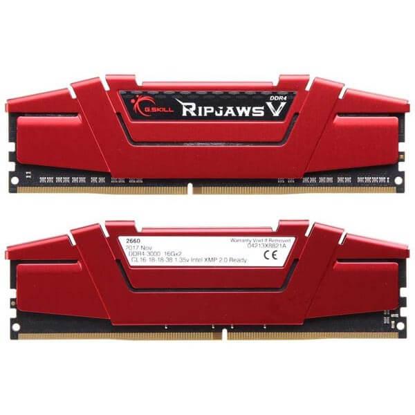 قیمت خرید رم کامپیوتر جی اسکیل 2×16=32 گیگابایت ddr4 فرکانس 3000 مدل Ripjaws V
