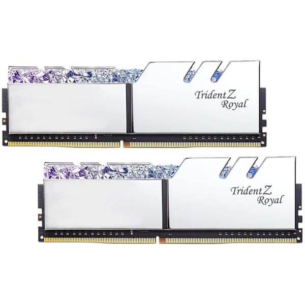 قیمت خرید رم کامپیوتر جی اسکیل 2×16=32 گیگابایت ddr4 مدل Trident Z Royal Silver
