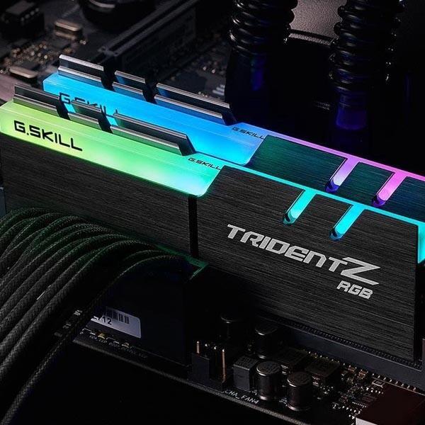 قیمت خرید رم کامپیوتر جی اسکیل 2×8=16 گیگابایت ddr4 فرکانس 3000 مدل Trident Z RGB