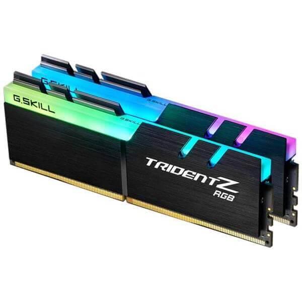 قیمت خرید رم کامپیوتر جی اسکیل 2×16=32 گیگابایت ddr4 فرکانس 3000 مدل Trident Z RGB