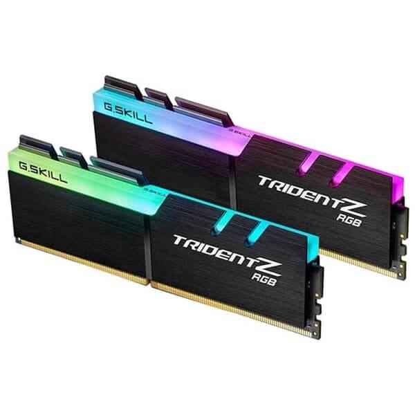 قیمت خرید رم کامپیوتر جی اسکیل 2×16=32 گیگابایت ddr4 فرکانس 3200 مدل Trident Z RGB