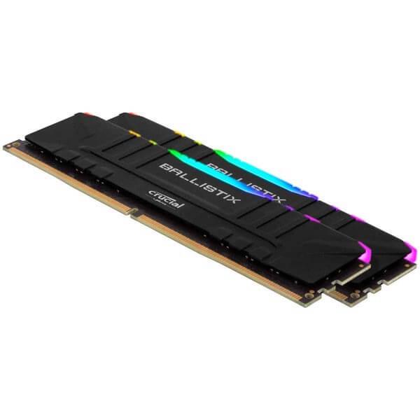 قیمت خرید رم کامپیوتر کروشیال 2×8=16 گیگابایت ddr4 فرکانس 3200 مدل Ballistix RGB