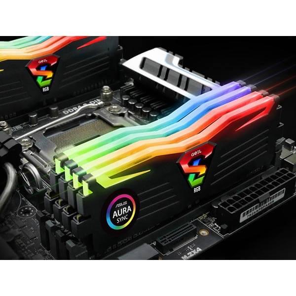 قیمت خرید رم کامپیوتر گیل 2×16=32 گیگابایت ddr4 فرکانس 3200 مدل Super Luce RGB