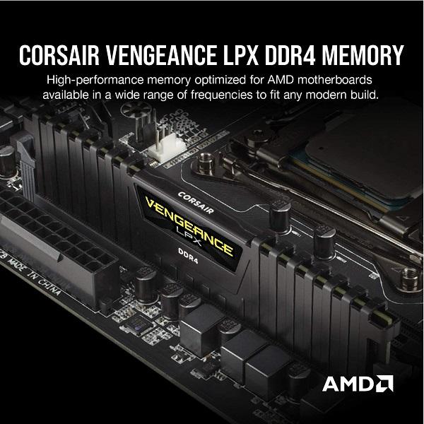 رم کامپیوتر کورسیر مدل vengeance lpx 8gb 2400mh cl16 تک کانال